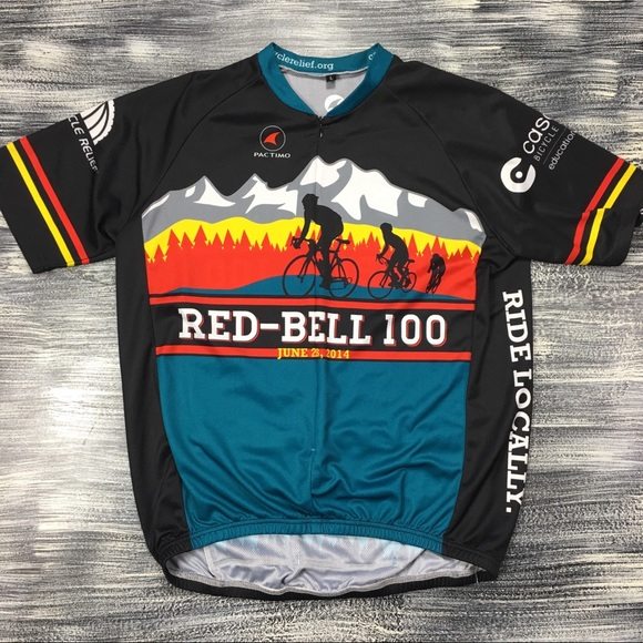 60308d16a4a Pactimo Other   Mens Cycling Jersey Sz L Red Bell 100   Poshmark